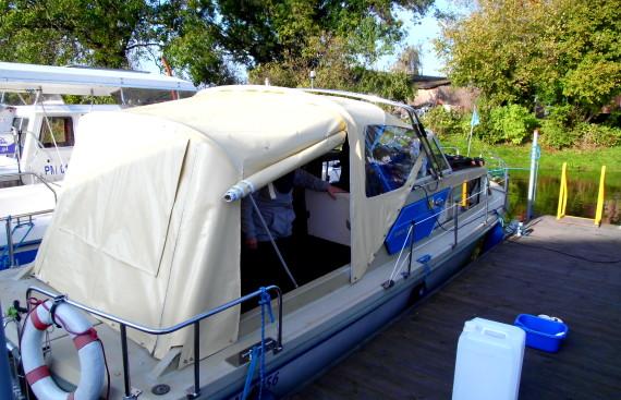 Plandeka na łódkę